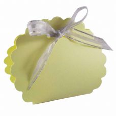 Lemon Scalloped Clam Designer Favour Boxes